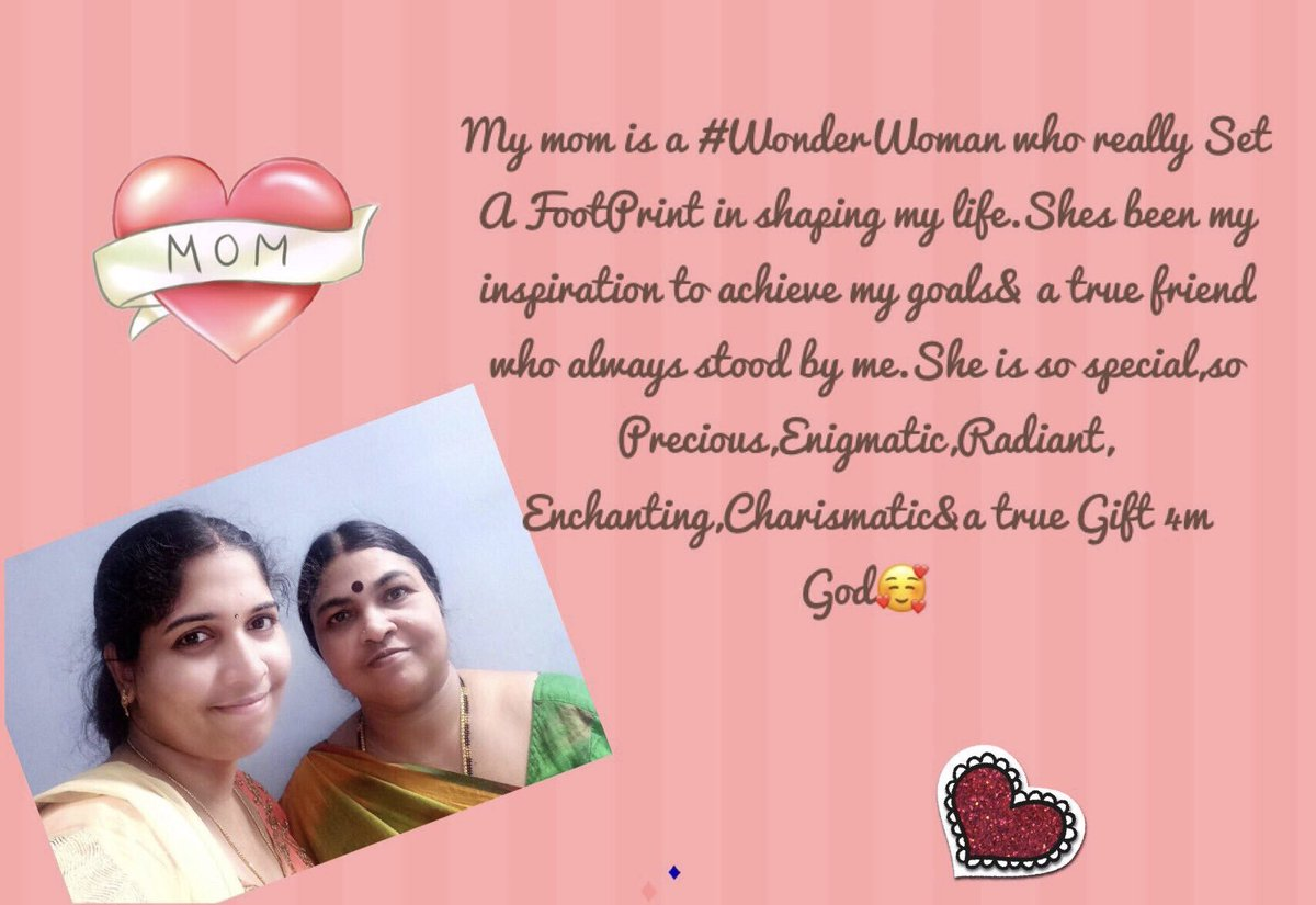 """@SaffolaFittify Dear mom U r my SuperHero without cape,my bestfriend,my inspiration&a great stressbuster whose presence makes me feel secured &Joyous😊Shes the best in everything&I do follow #MomsBestAdvice - """"Always Be Humble &Confident while making choices As they will determine ur tomorrow""""❤️ https://t.co/0Bm2vbRyFu"""