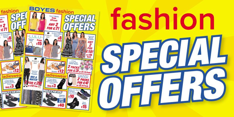 We have some great #Summer☀️ Fashion Special #Offers in-store now! Check Out Our Leaflet For Fantastic Offers & Savings! ➡️ https://www.boyes.co.uk/store-leaflet3