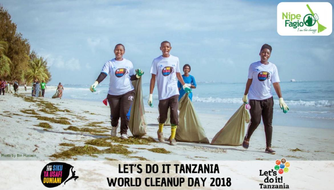 #DYK that @NipeFagio conducted 102 cleanups, engaged 26,419 people, & collected 18,547 bags (466,378 kg) of trash in #Tanzania on #WorldCleanupDay in 2018?  More info in the report: https://t.co/XFyaTGwGPX /LDI_FinalReport_AR_190502_LRC.pdf #ZeroWasteTanzania @WorldCleanupDay