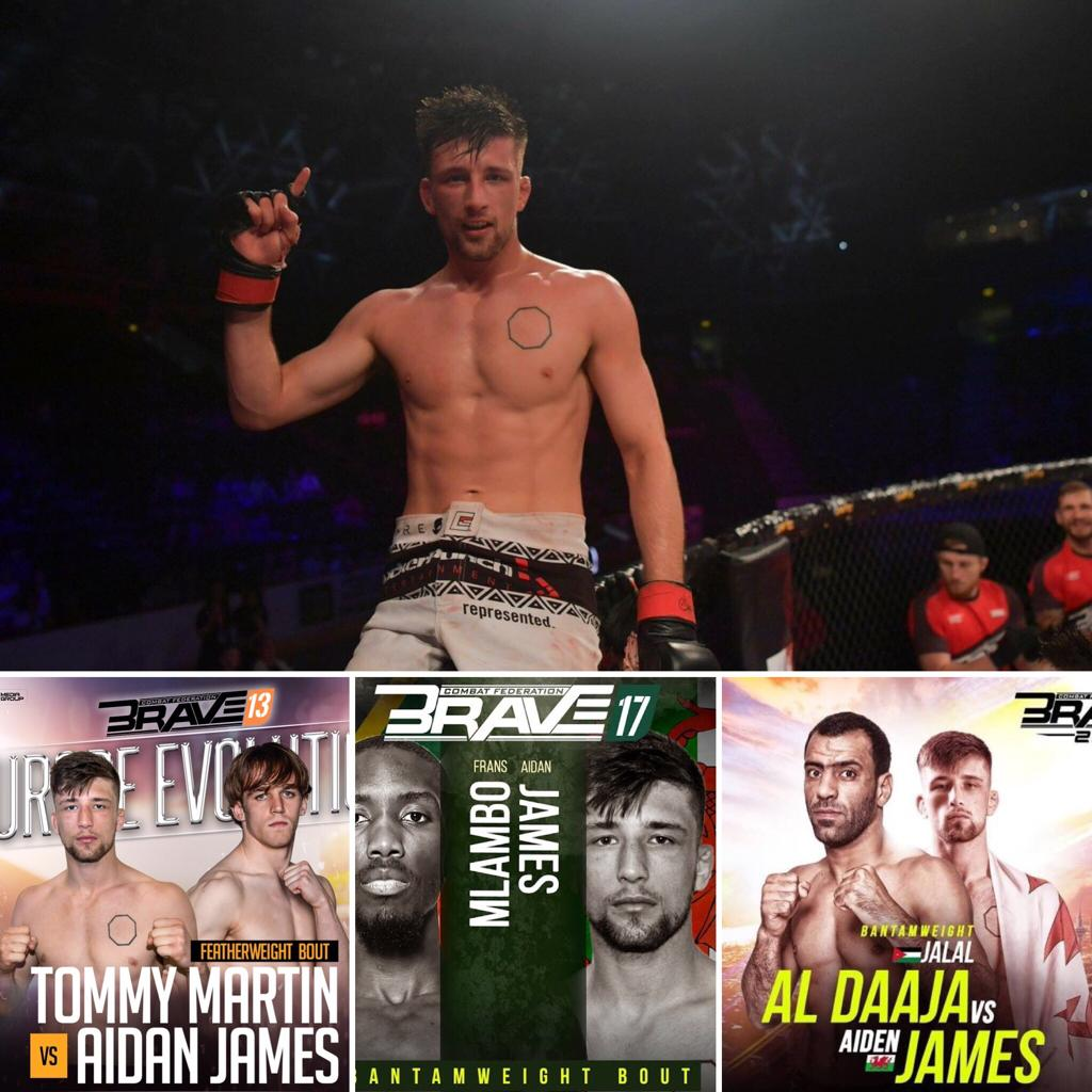 3 fights 3 finishes 🔥 🏴 's Undefeated @aidanjamesmma  #BRAVECF13 BELFAST - TKO WIN 🔥 #BRAVECF17 🇵🇰- SUBMISSION WIN🔥 #BRAVECF23 🇯🇴 - TKO WIN🔥 💯 Finish ratio  What's next for the top prospect ⁉️