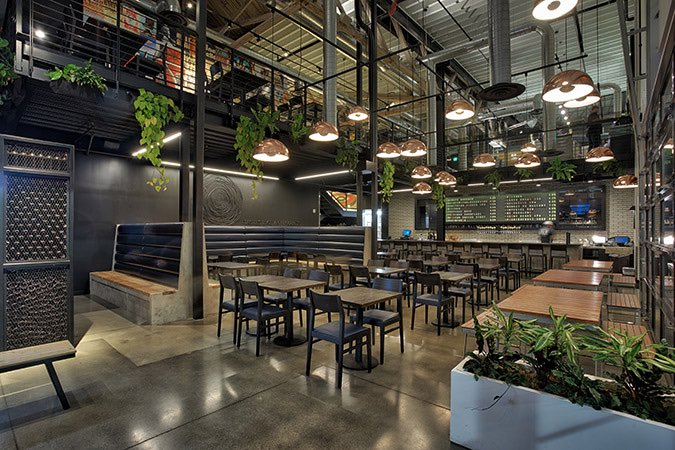 Our Julia in a Portland brewery  #contractseating #commercialdesign