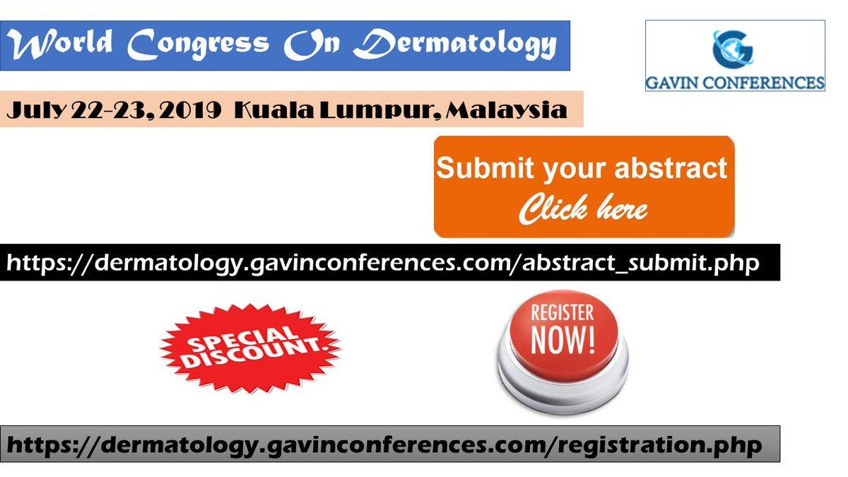 Dermatology Congress 2019 (@DermatologyCon4) | Twitter