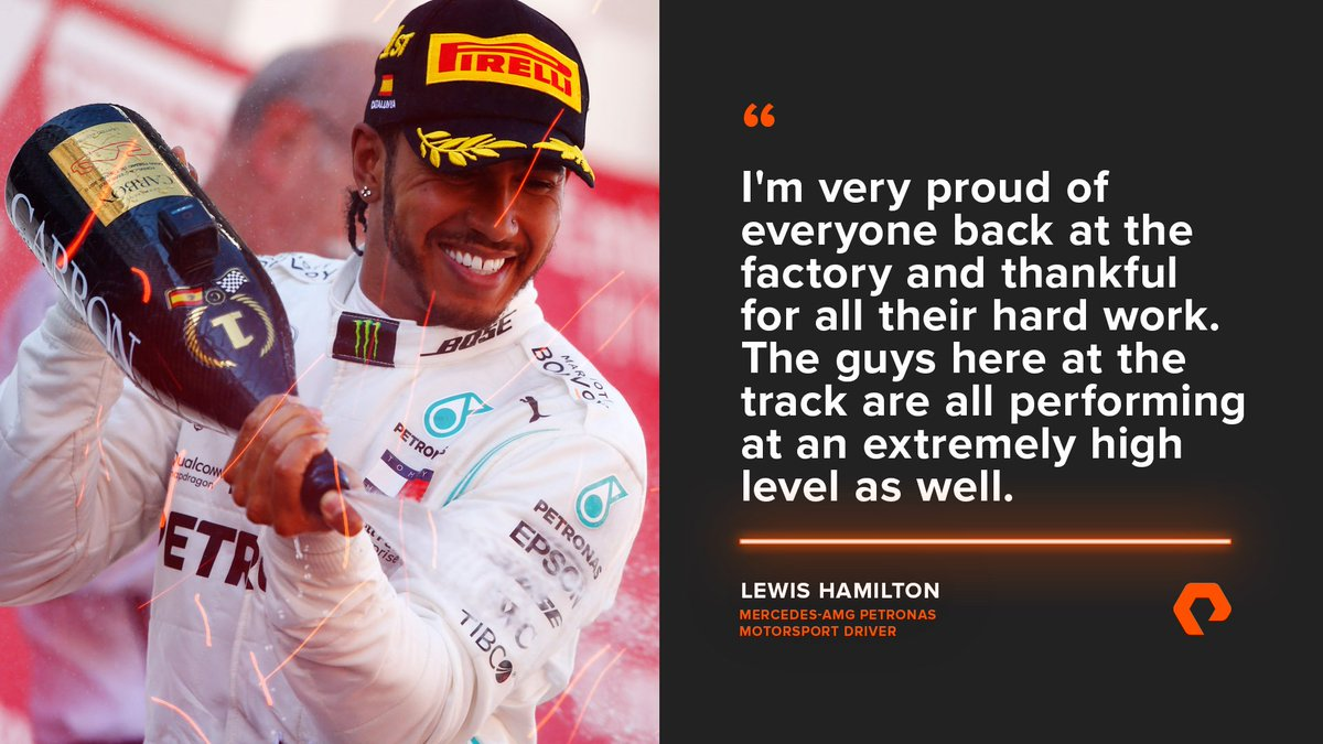🇪🇸 #SpanishGP Reaction 💬  Race winner @LewisHamilton credits the team at the factory and at the track for yesterday's victory! 💪  More race reactions from @MercedesAMGF1 👉  http://purepitwall.com/livesocial     #UnfairAdvantage #F1