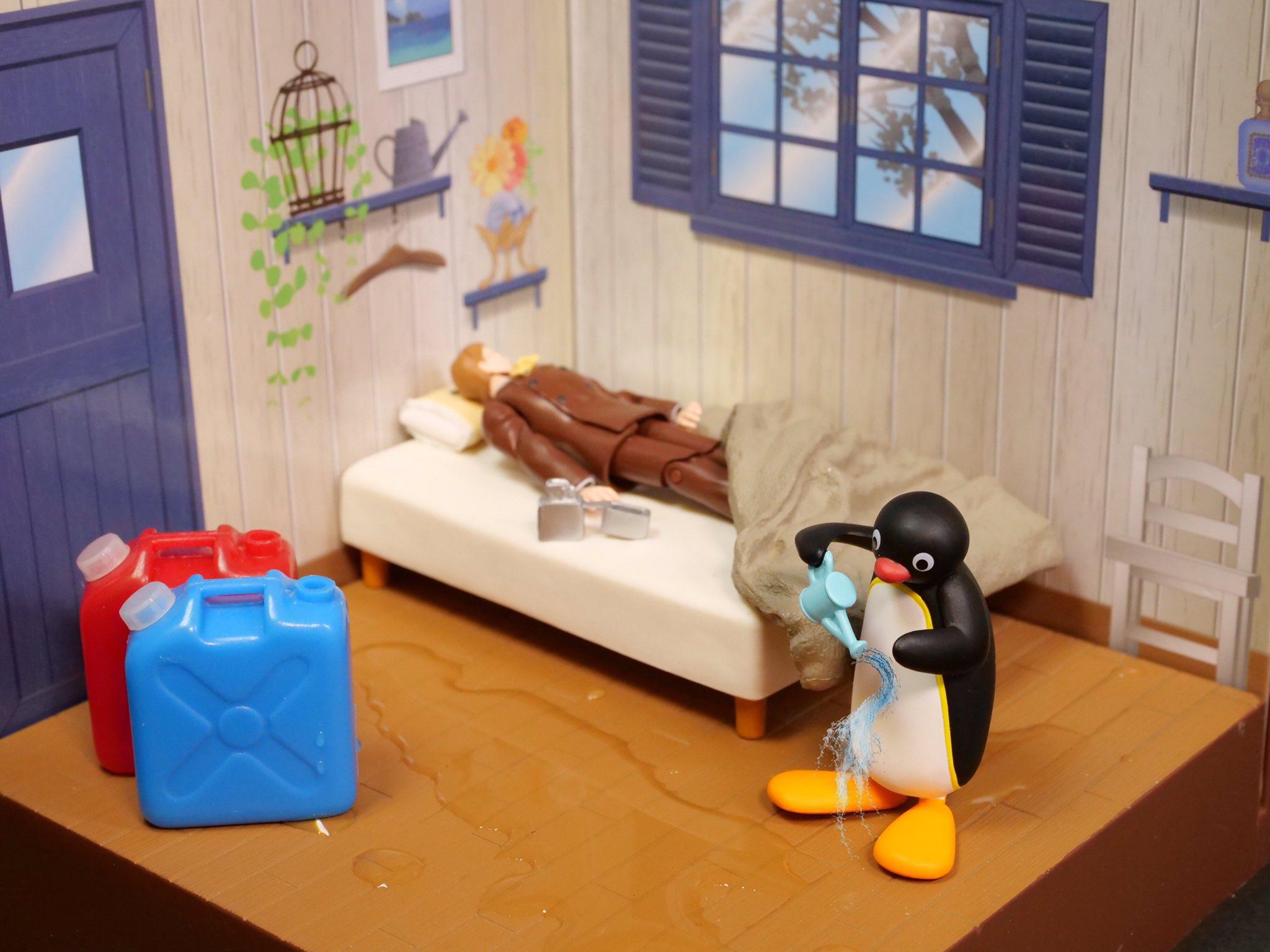 嫌いな上司の部屋に水を撒くピングー