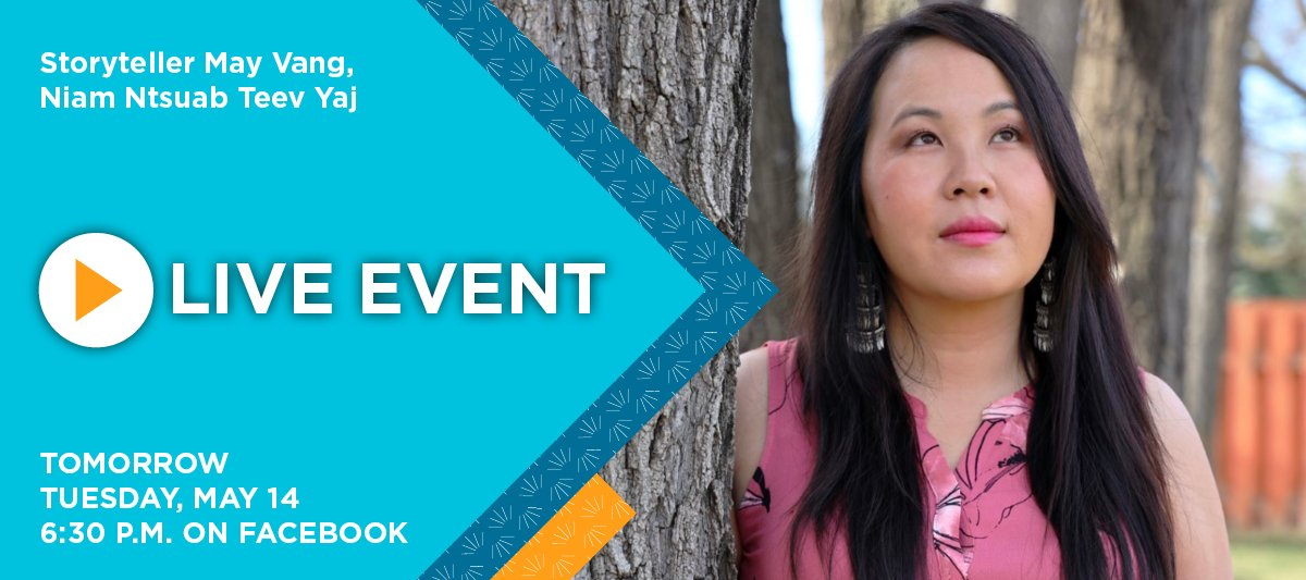 We hope you can join us tomorrow night at Hayden Heights (1456 White Bear Ave) for a special event featuring storyteller May Vang. If you cant make it, we will be live streaming the event on Facebook. Tune in starting at 6:30 p.m.: facebook.com/events/9572689…