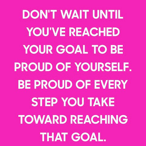 #mondaymotivation #goalsanddreams #beproudofyourself #everyachievementcounts