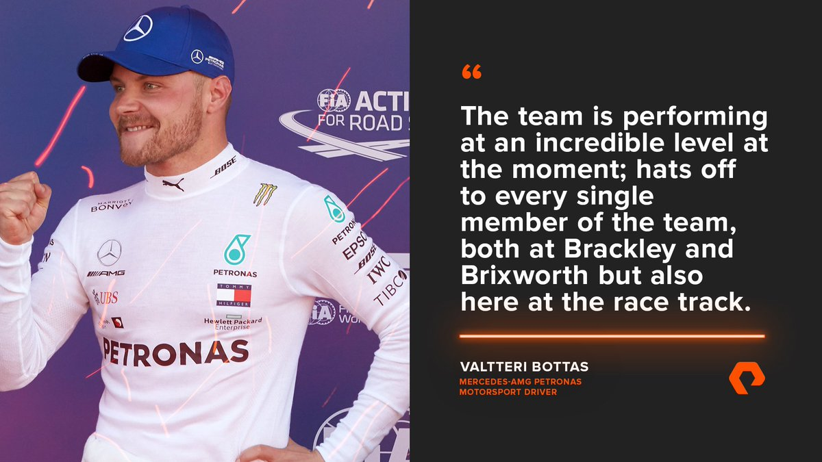 🇪🇸 #SpanishGP Reaction ⬇️  Another 1-2 for @MercedesAMGF1, thanks to the hard work of the team. @ValtteriBottas praises every single member!  More thoughts from @MercedesAMGF1 👉  http://purepitwall.com/livesocial      #UnfairAdvantage #F1