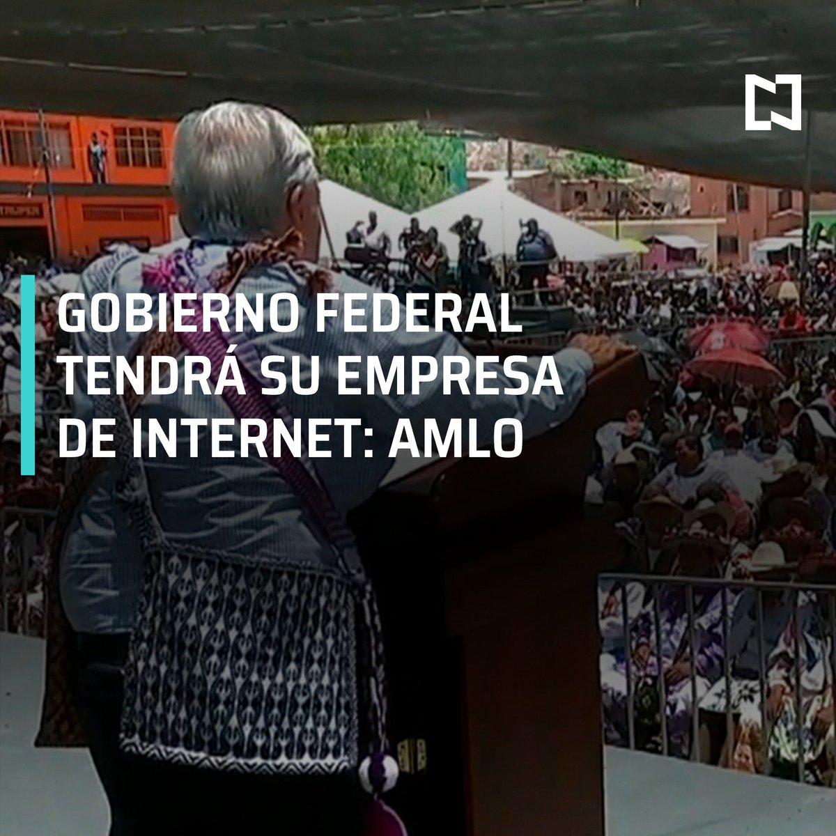 AMLO anuncia que el Gobierno federal tendrá su propia empresa de internet, dijo que las empresas que ya existen no dan servicio en pueblos apartados #DespiertaConLoret con @campossuarez