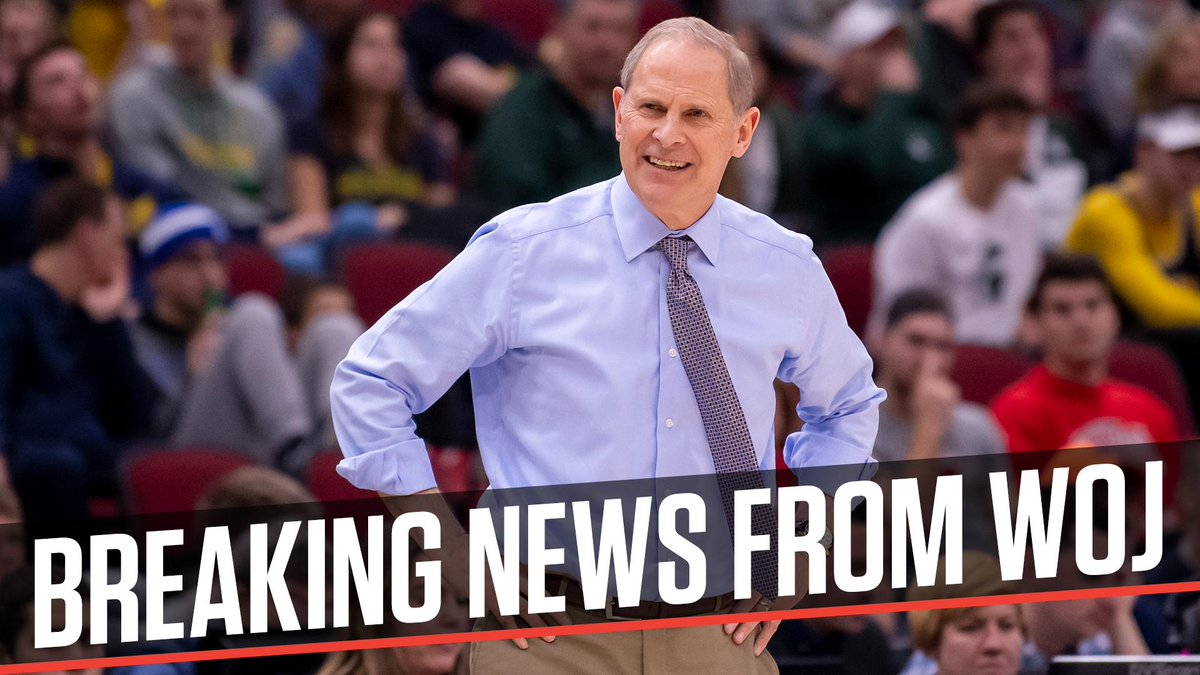 Breaking: University of Michigan coach John Beilein has agreed to a 5-year contract to become the Cleveland Cavaliers coach, league sources tell @wojespn .