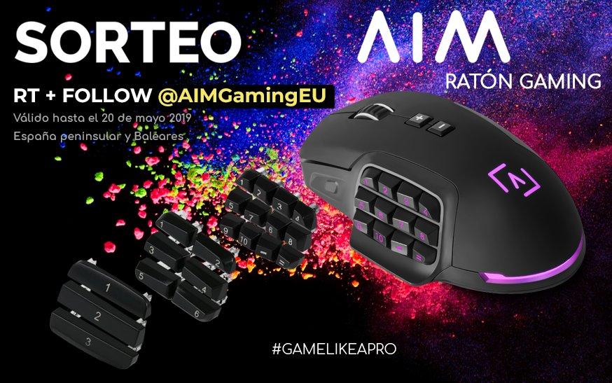 🌟 #SORTEO! 🌟  Participa hasta el 20 de mayo con RT + Follow @AIMGamingEU y podrás llevarte el ratón del AIM 😎