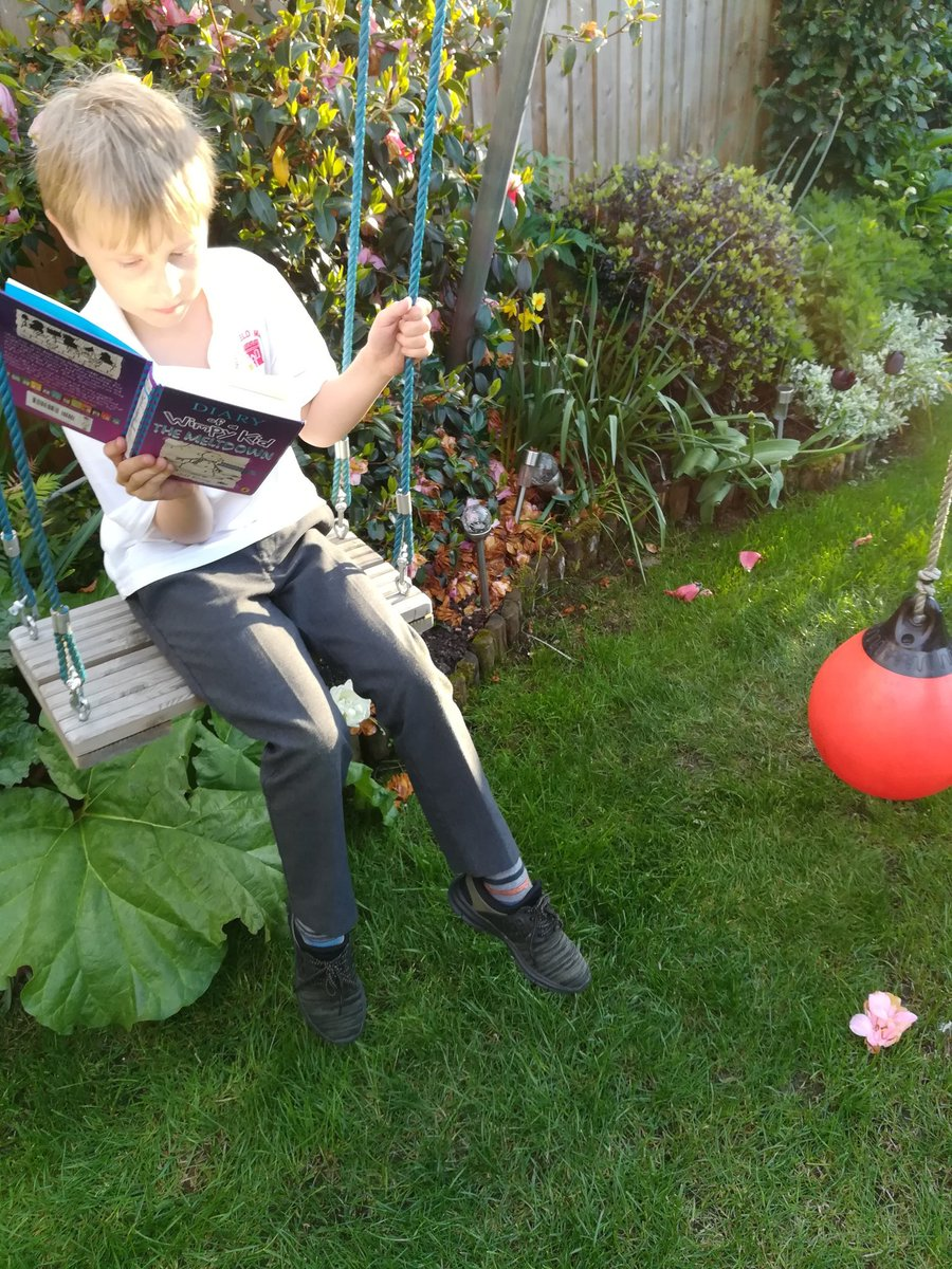 Lewis wants me to play in garden, I want him to do his homework. Oh well why not combine the two ? @BlakerMrs @NorthManorAcad