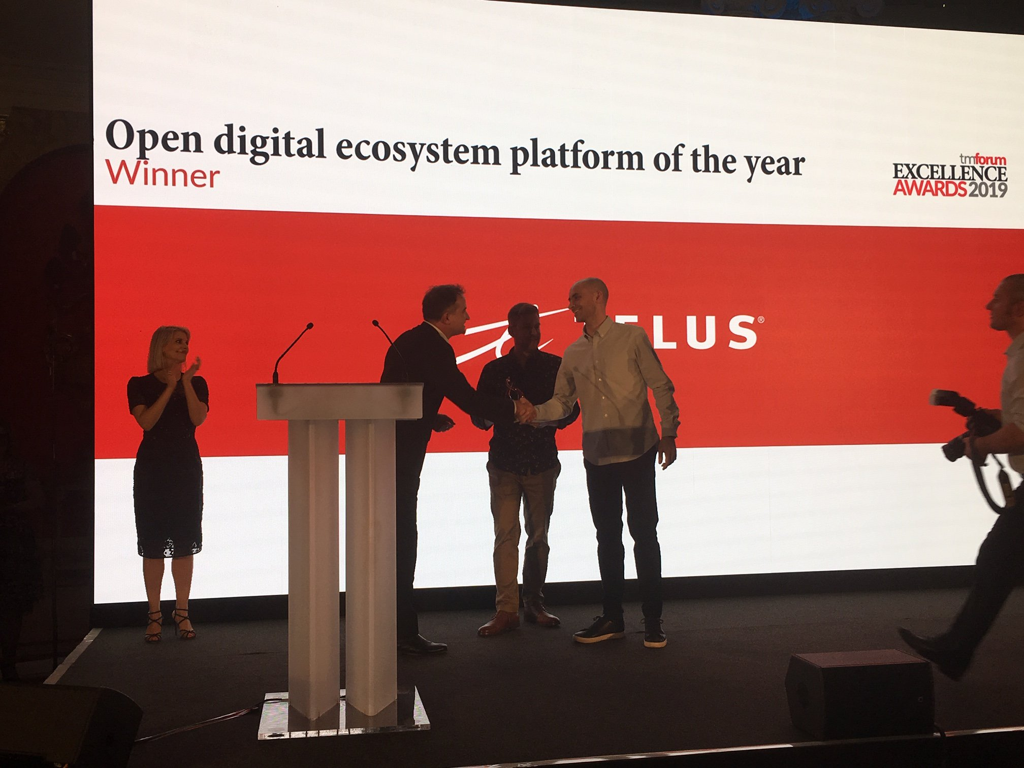 TELUS awarded the 2019 Digital Ecosystem of the Year, by TM Forum (Telecom Management Industry Association). Great people, great partners, great work.