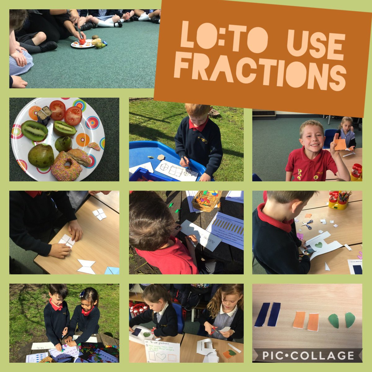 test Twitter Media - Moving on to fractions. We discussed what a fraction is and how many equal parts there are in a half. Quick demo then off to investigate finding haves of shapes #gorseymaths @GorseyY1 https://t.co/vNylodMC6b