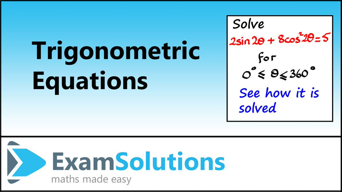 ExamSolutions on Twitter: