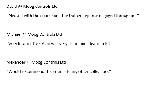 test Twitter Media - Great feedback from David, Michael & Alexander from @MoogSDG on our 'CITB Health & Safety Awareness' course who said the below.#Feedback #Training #healthandsafety #CITB https://t.co/0eURy9q33Y