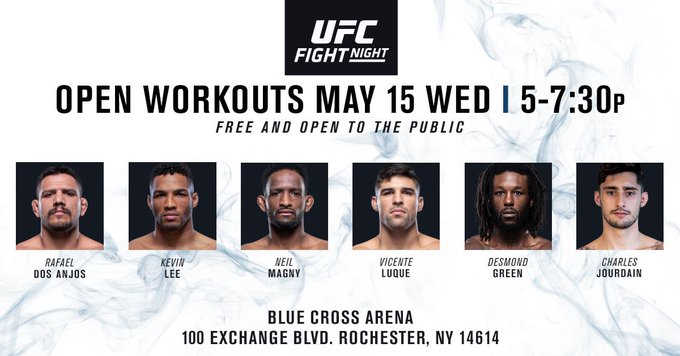 See you Wednesday, New York! #UFCRochester