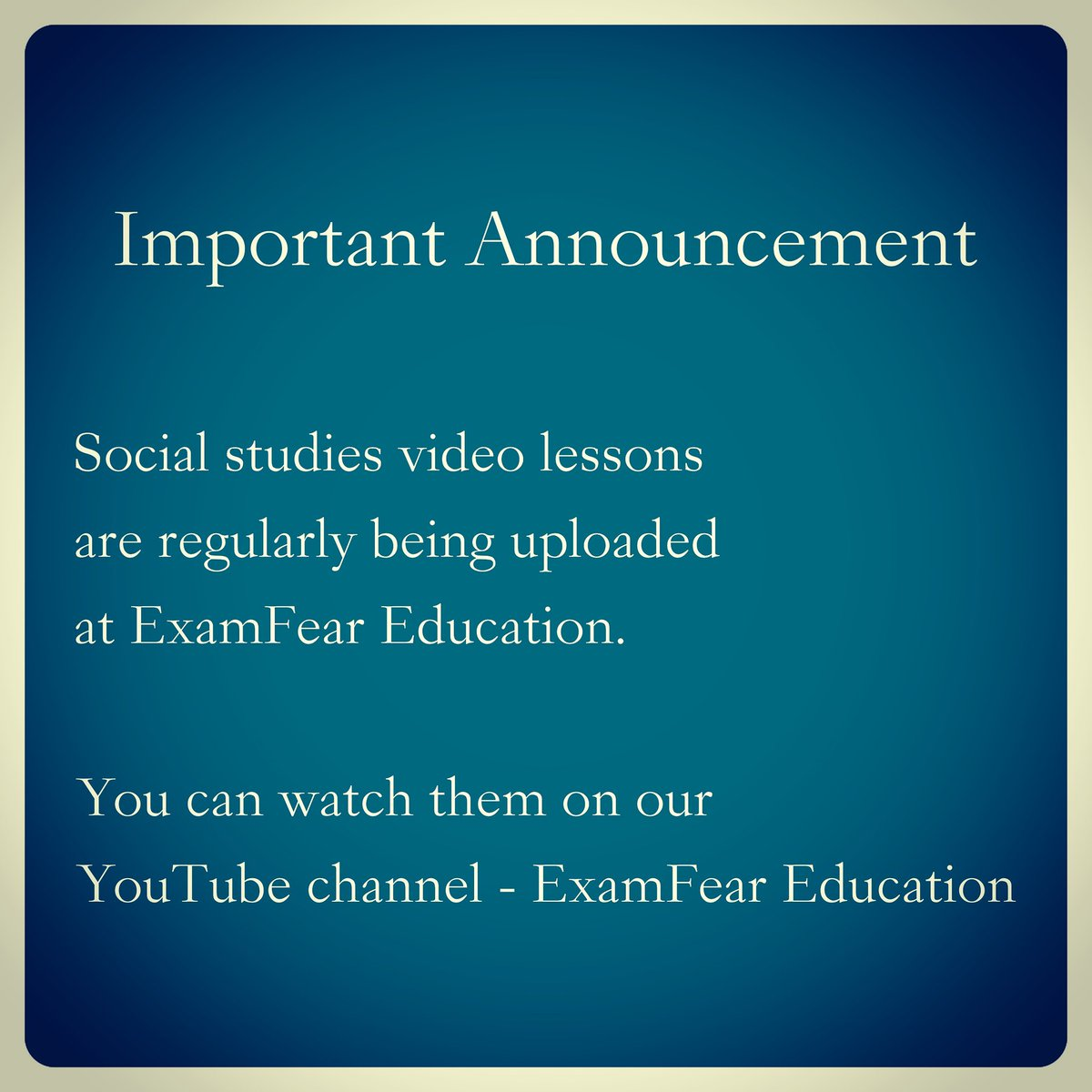 Examfear Education (@ExamfearVideos) | Twitter