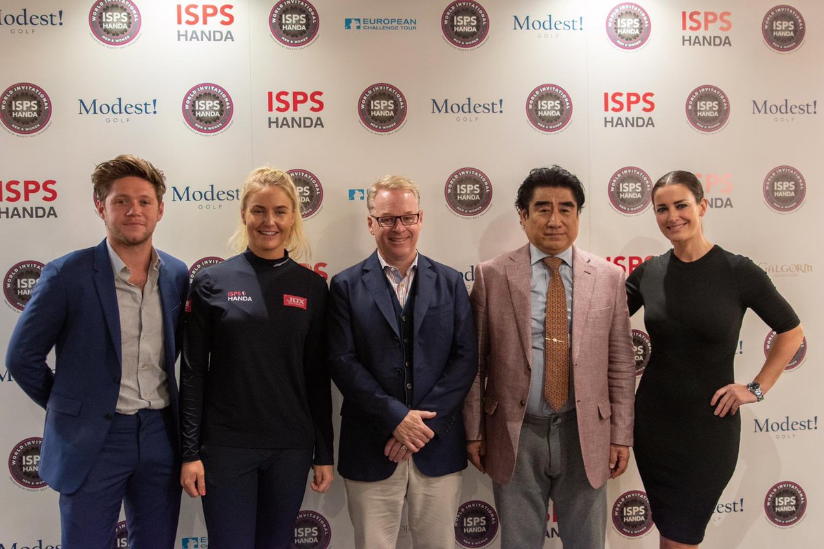 Amazing launch of the @ISPSHanda world invitational this morning.Ladies and men competing for an equal prizefund in August @GalgormResort .Thank you Keith Pelley and @EuropeanTour for support .Thank you @TheRealKirstyG , @HullCharley and Dr. Handa . Going to be a great week.