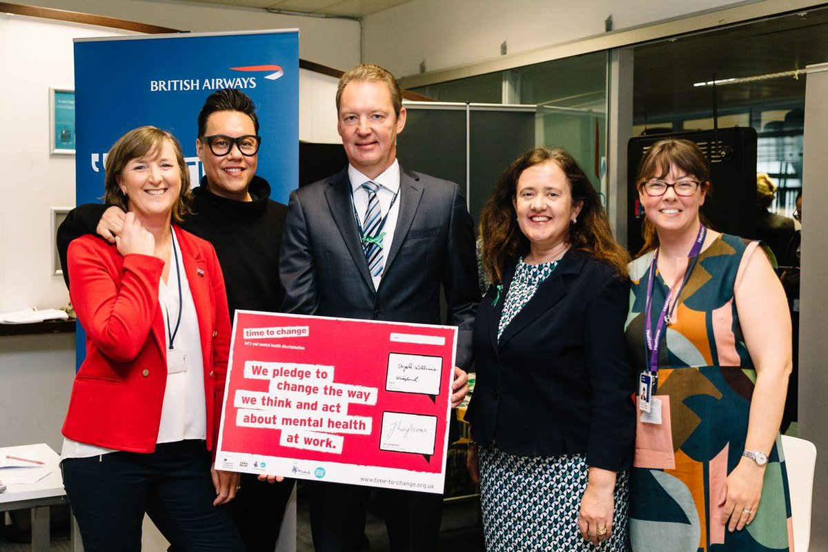 We are proud to be a change maker, signing the Time to Change pledge alongside mental health ambassador @therealgokwan, affirming our commitment to the well-being of our 45,000 employees. #TimeToChange #MentalHealthAwarenessWeek