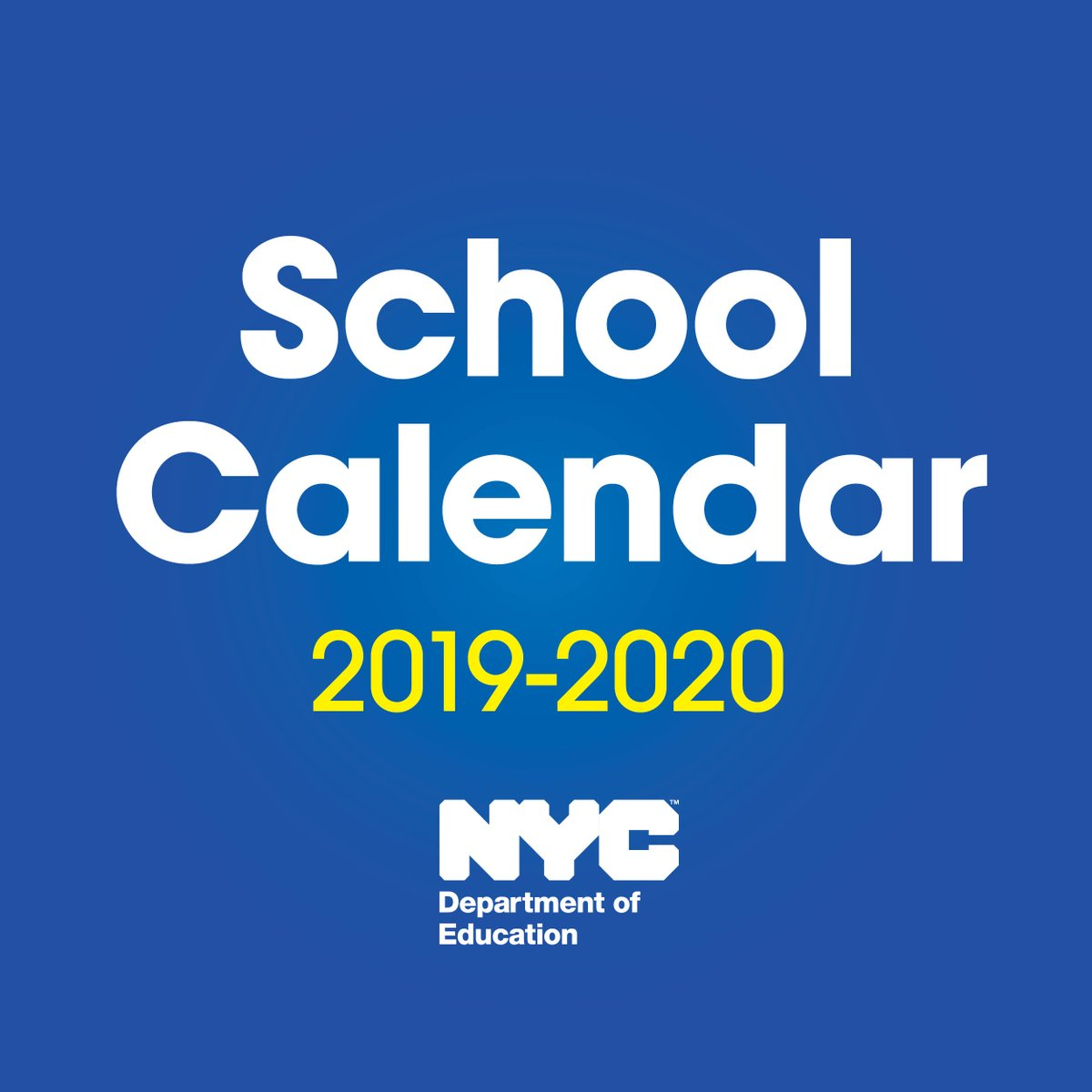 New York City Public School Calendar 2019 NYC Public Schools on Twitter:
