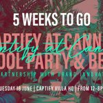 The countdown is ON - Tickets are selling out fast for the #CaptifyatCannes Pool Party & BBQ with over 1,200 already registered! Request an invite here: https://t.co/pHWU46qjCr @Brand_Innovator #CannesLions
