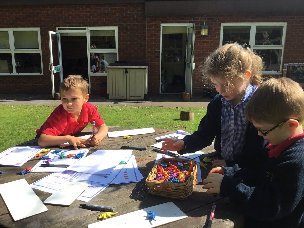 test Twitter Media - We loved learning outside today in the beautiful weather ☀️😎 We did activities focusing on halving shapes as well consolidating our maths learning from last week #gorseymaths https://t.co/WN6LiqnWN6