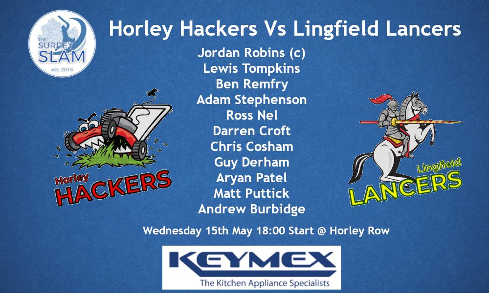 First @SurreySlam game this week vs @LingfieldCC Lancers, come down and show your support #COYH