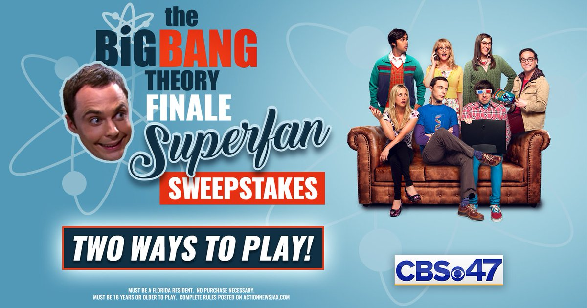 #CONTESTALERT   @bigbangtheory IS COMING TO AN END and CBS47 wants to give you a chance to be a part of history. There are two ways to win: Tweet us your Best Sheldonism or recreate your favorite moment from the show. #BestSheldonismContest  How To Enter: https://bit.ly/2J9yApK
