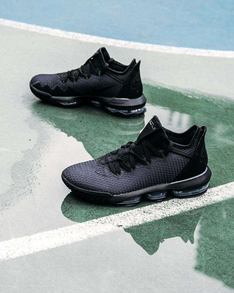 70176e18dc8  Nike Lebron 16 Low Black Black Available Now