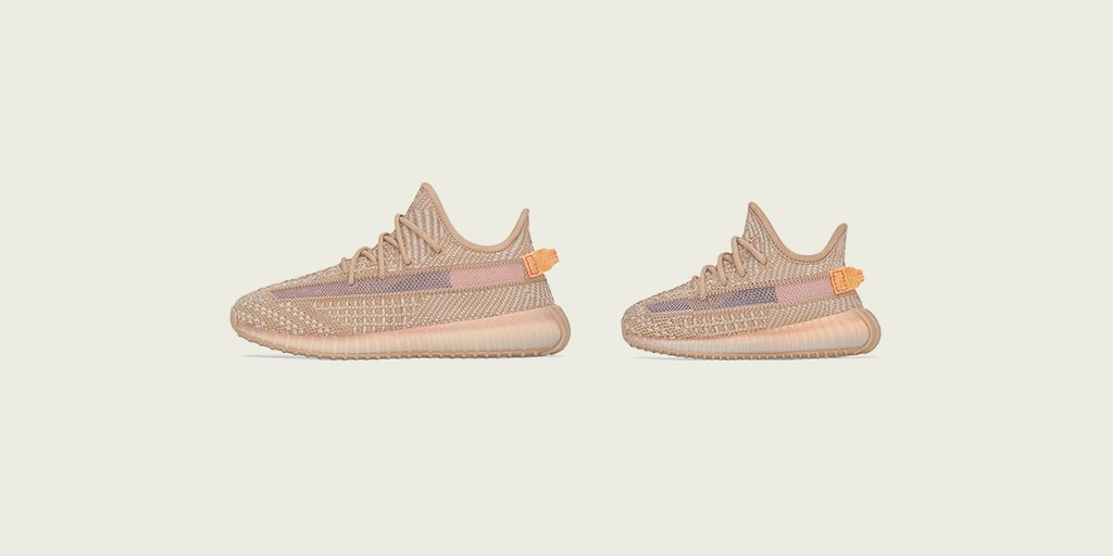 c4dcbcb8e99b YEEZY BOOST 350 V2 CLAY. AVAILABLE MAY 18 IN KIDS AND INFANTS ONLY. AT  http   a.did.as 6013EieLN pic.twitter.com GYuxUfaq1D