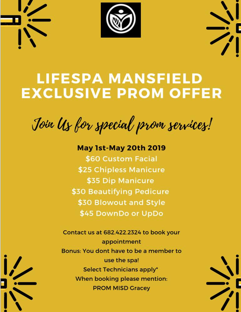 🤩🤩🤩Check out these great deals for prom prep!🤩🤩🤩