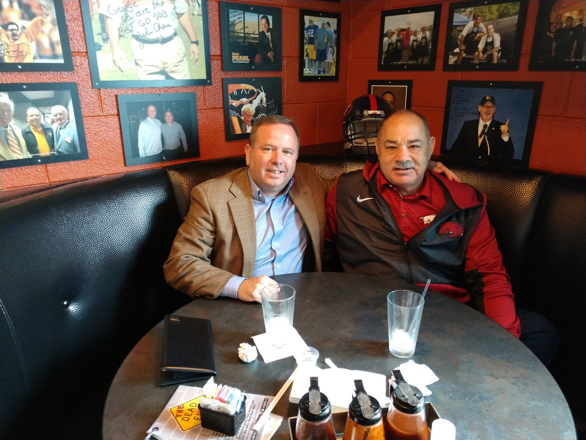It was great seeing my friend and cooking partner @CoachJohnChavis today!