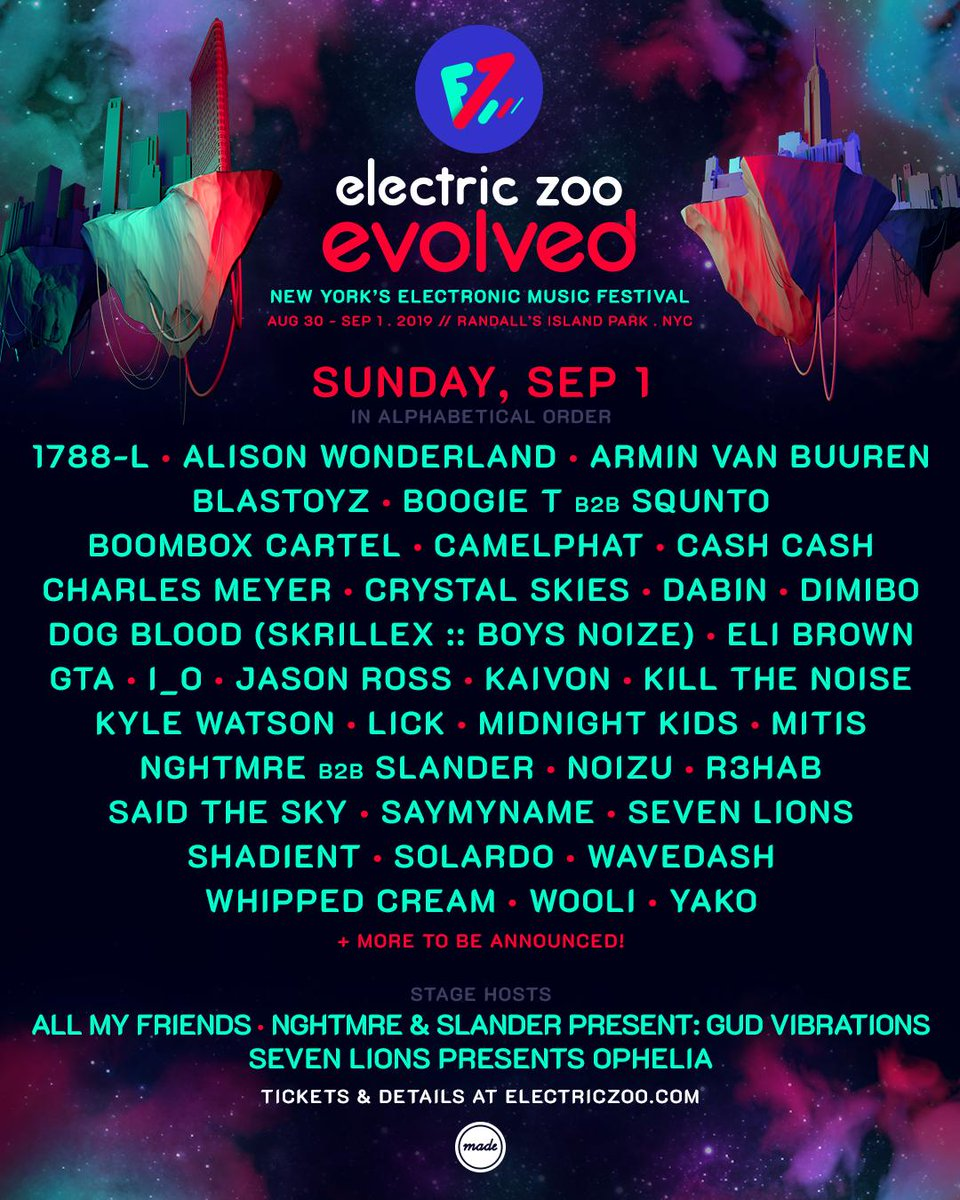 Electric Zoo 2019 lineup