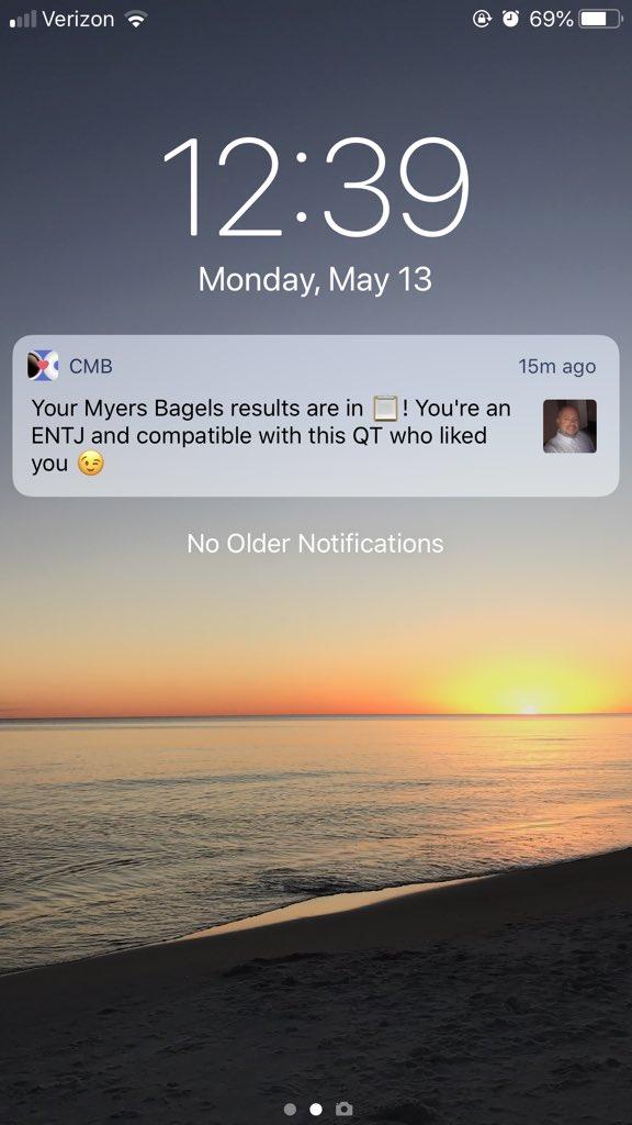 Does coffee meets bagel notify screenshots