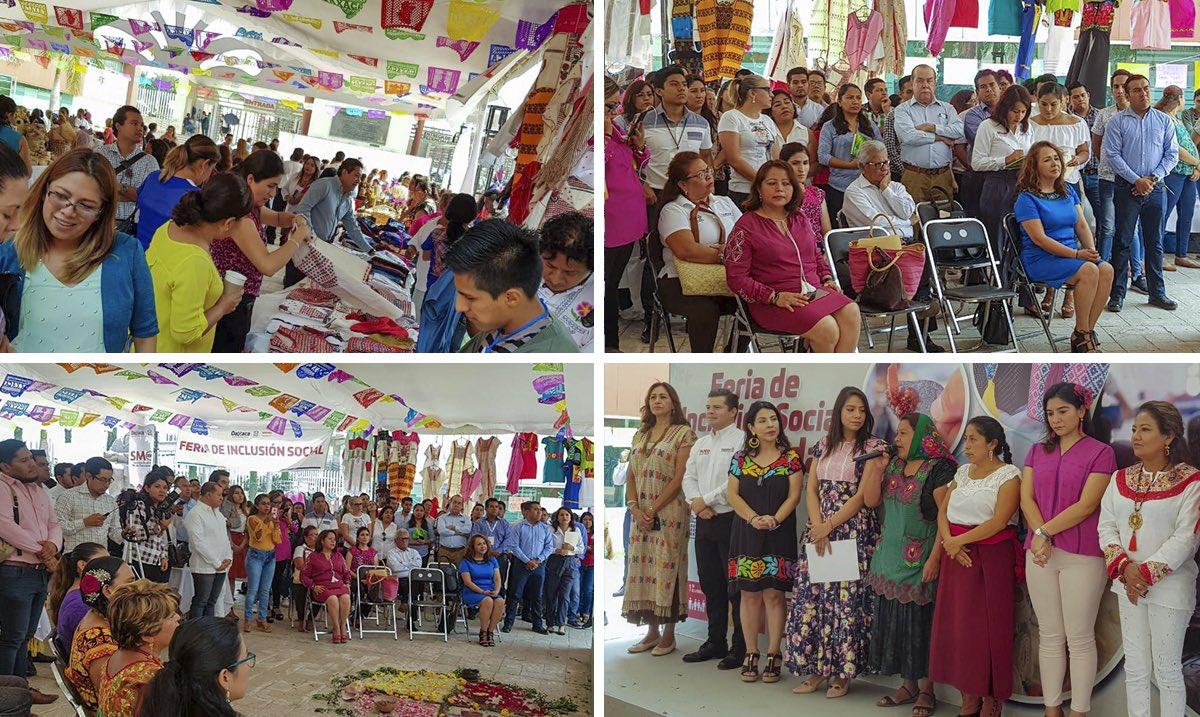 En representación de la secretaria @EufrosinaCruz, asiste la coordinadora de Identidades Culturales y Desarrollo de Capacidades a la inauguración de la Feria de la Inclusión Social y de la Sororidad Artesanal, estará del 13 al 17 de este mes, en la explanada de Cd. Administrativa