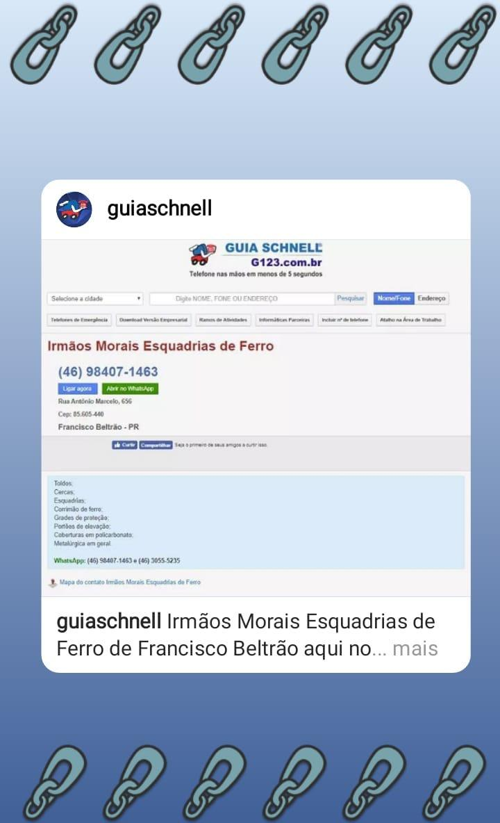 d4ad9424d  esquadrias  ferro  franciscobeltrao  propaganda  publicidade   publicidadepropaganda  guia  guiaschnell  g123  telefone pic.twitter.com XxGZW4HN89
