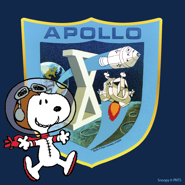 This week Peanuts is celebrating the 50th anniversary of @NASA #Apollo10 Mission. Follow along for all things #AstronautSnoopy.
