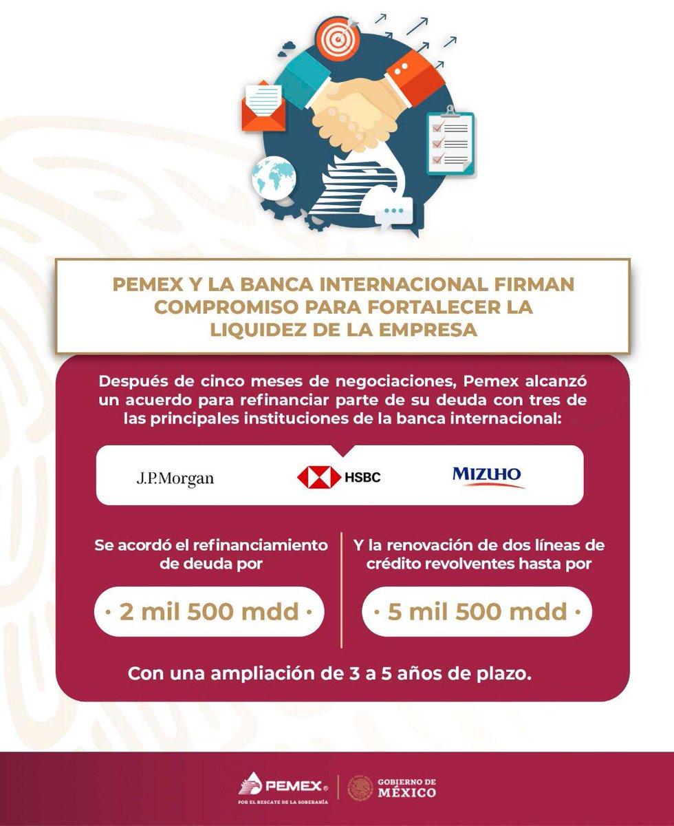 Acuerdo deuda de Pemex