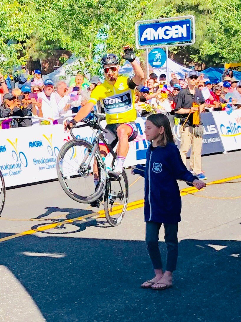 My favorite training partner was a boss today with @petosagan at the @AmgenTOC. Pretty sure it is the @ride100percent! 💁🏼♀️