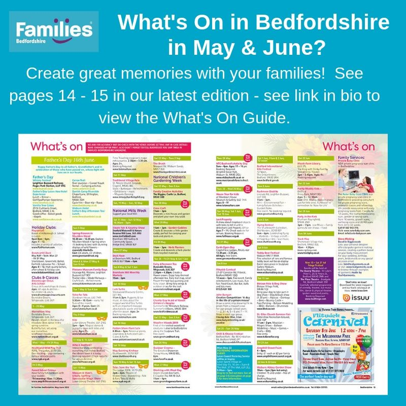 See pg's 13-15 for some great events over the May&June months including The Bedford Chilli&Cheese Festival, Bedford Fringe Festival,Flitwick Carnival and much much more!  @cheeseandchillifestival @FlitwickTC @lutoncouncil @QuarryTheatreAtStLukes @ThePlaceTheatre @JohnBunyanMuseum<br>http://pic.twitter.com/jcucrvkAIw