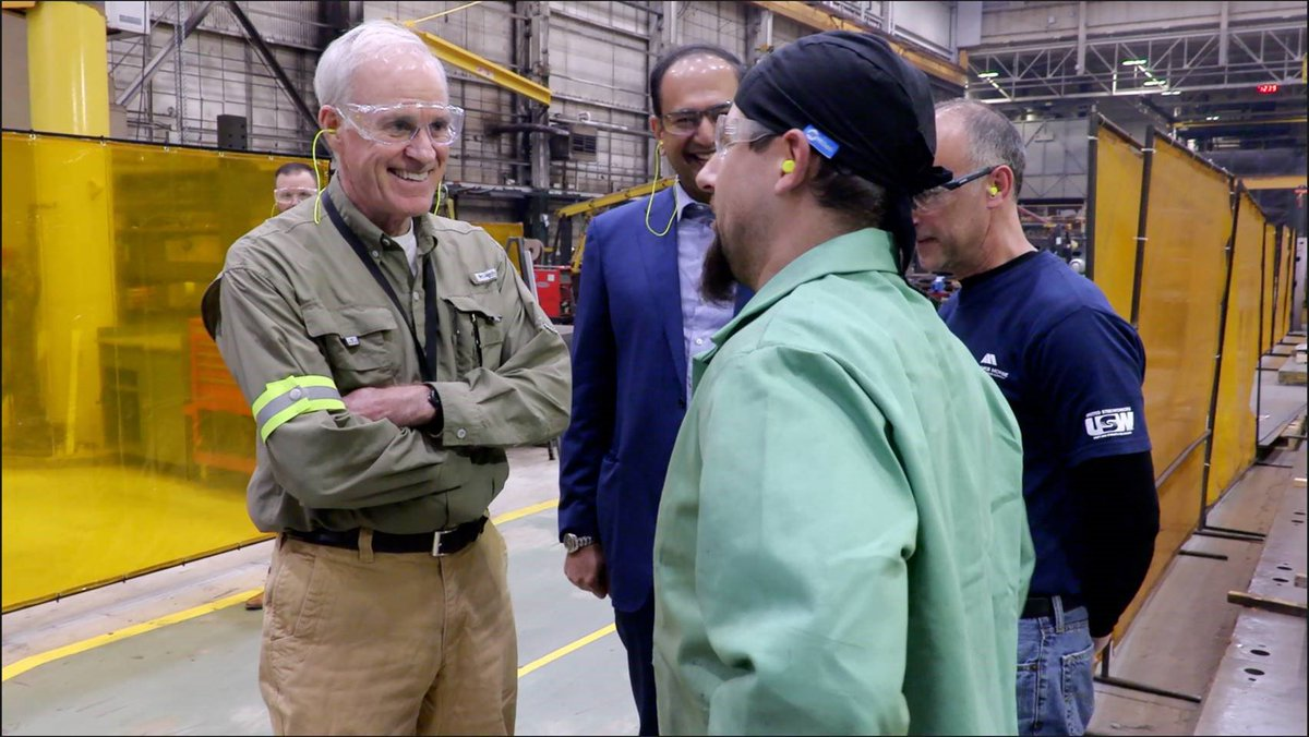 """Today we were pleased to have US Secretary of the Navy, Richard V. Spencer @secnav76, at our Beloit facility where we showed off our engines and our talented workforce. """"You are the bedrock of what national security is all about."""" - @secnav76"""