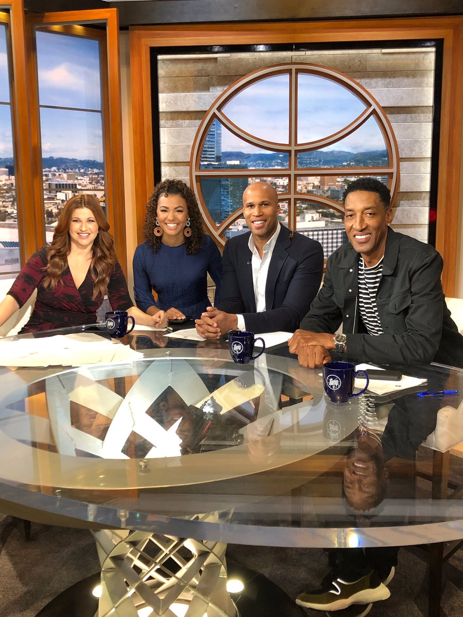Great day on The Jump hanging with a great crew—@Rachel__Nichols, @malika_andrews and @Rjeff24