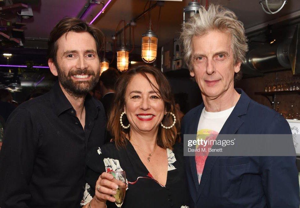 David Tennant att press night of The Last Temptation Of Boris Johnson at The Park Theatre, London - Monday 13th May 2019