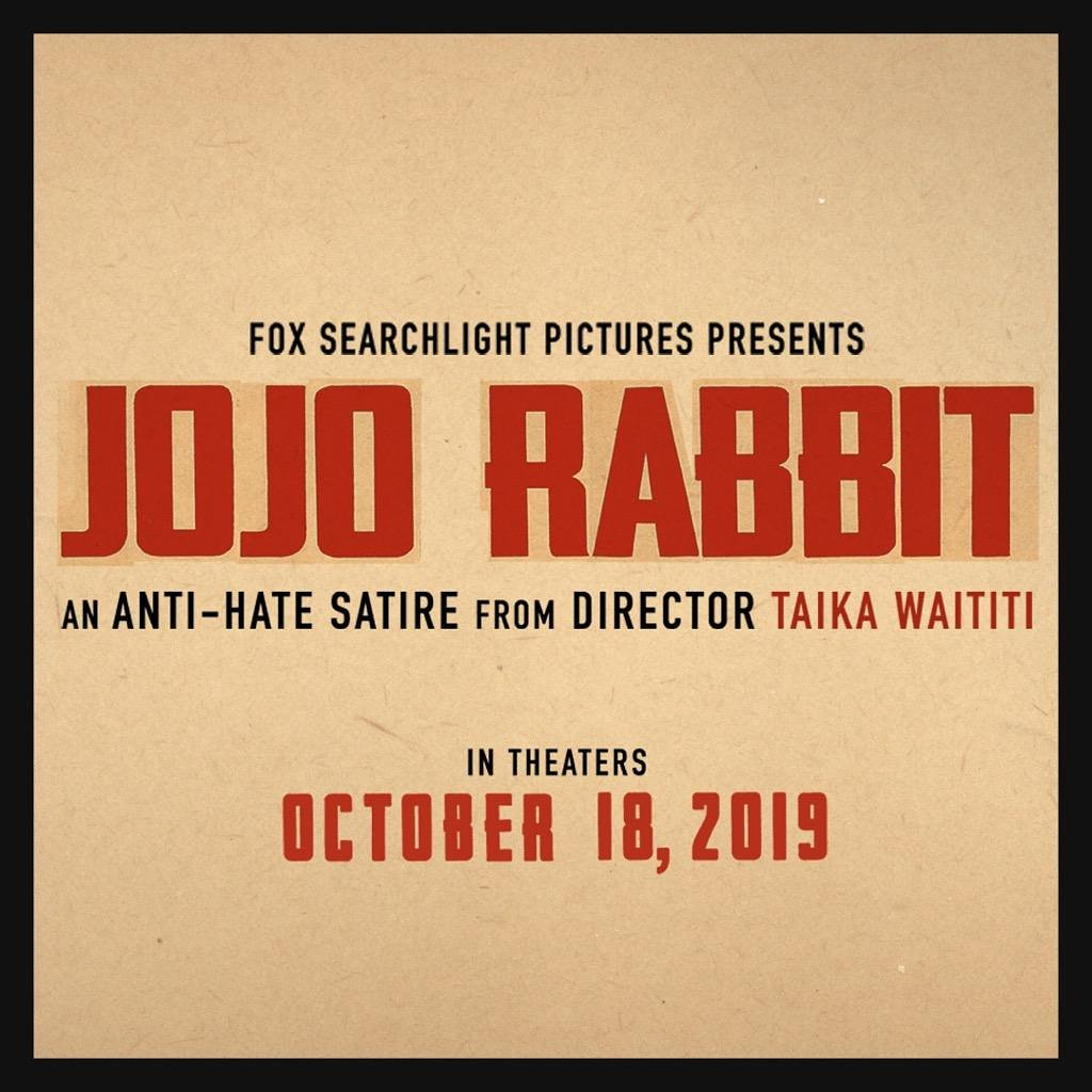 This is the best trailer I could come up with. October 18. #JojoRabbit