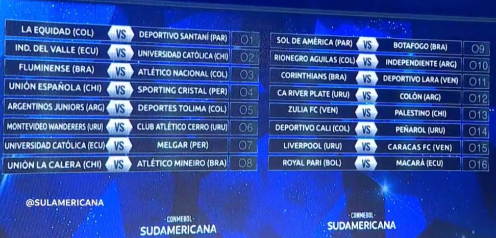Así quedaron los cruces de segunda fase de la #CopaSudamericana