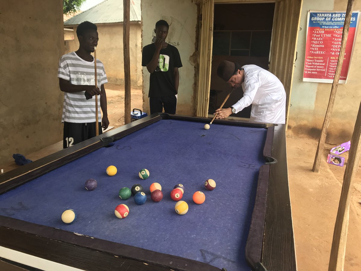 """Youths Vs Youths at Heart"" - Shehu Sani Plays Snooker With Youths In Kaduna"