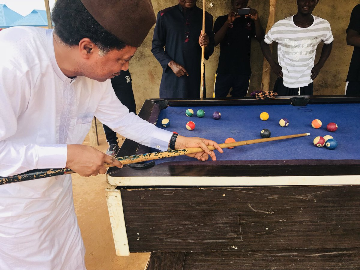 """""""Youths Vs Youths at Heart"""" - Shehu Sani Plays Snooker With Youths In Kaduna"""