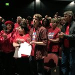 TAAAC members turn out to support the budget at County Council hearing. #RedForEd #fundeducation