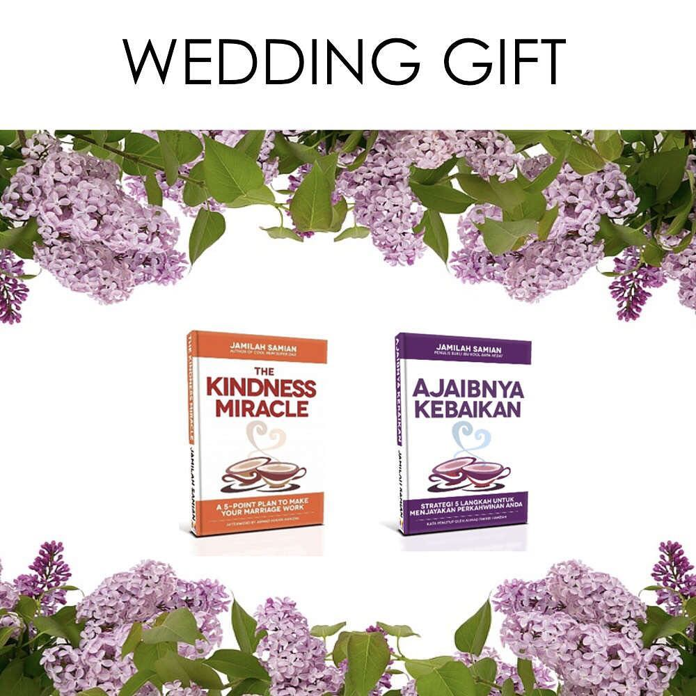 "Looking for a special wedding gift for a loved one? Get an autographed copy of ""The Kindness Miracle"" or ""Ajaibnya Kebaikan"". Enquiries: Whatsapp +6012.201.5352.  #TheKindnessMiracle #AjaibnyaKebaikan #coolmumsuperdad http://www.coolmumsuperdad.com"