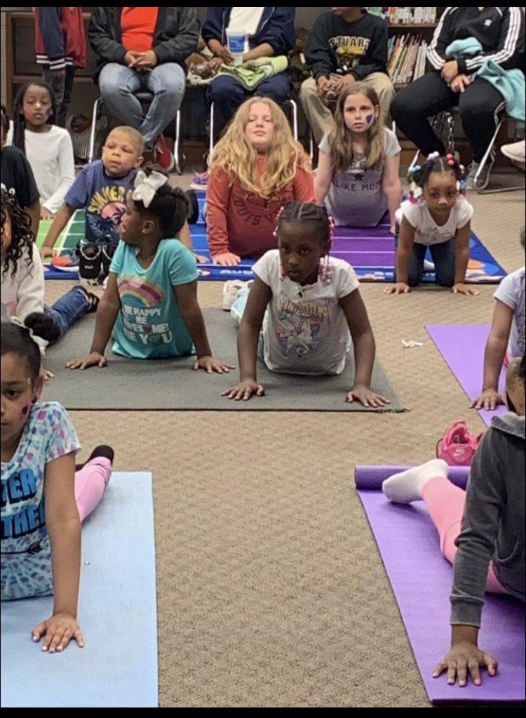 Welcome to yoga!!! 🧘♀️ 🧘♂️ #familyfun #WeAreJCPS